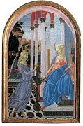 Annunciation Framed Prints - Fiduciario Di Francesco, Martini Framed Print by Everett