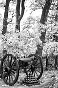 Artillery Metal Prints - Field Artillery at Pickettes Charge in Infrared Metal Print by Paul W Faust -  Impressions of Light