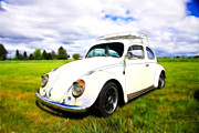 Vw Squareback Framed Prints - Field Bug Framed Print by Steve McKinzie