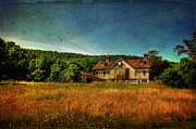 Pennsylvania Barns Digital Art - Field of Broken Dreams by Lois Bryan