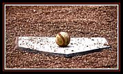 Home Plate Prints - Field of Dreams The Ball Print by Susanne Van Hulst