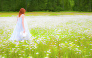 Impressionistic Photos - Field Of Dreams by Theresa Tahara