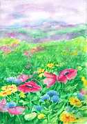 Buttercups Prints - Field of Flowers Print by Barbel Amos