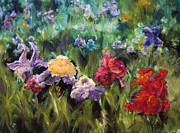 Diane Kraudelt Art - Field Of Flowers by Diane Kraudelt