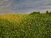 Rays Paintings - Field Of Flowers by Joe McClellan