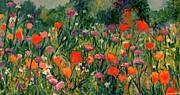 Field Of Flowers Print by Kendall Kessler