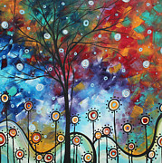 Plum Blossoms Paintings - Field of Joy by MADART by Megan Duncanson