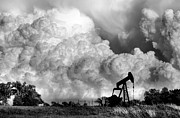 Oil Rig Prints - Field of Nightmares  Print by Karen M Scovill