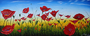 Field Of Red Poppies 4 Print by James Dunbar
