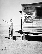 Shack Prints - Field office of the WPA Government Agency Print by American Photographer