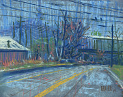 Industrial Pastels Originals - Fields Drive by Donald Maier