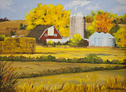 Silos Painting Posters - Fields of Gold II Poster by Terry Anderson