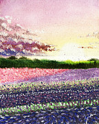 Field. Cloud Paintings - Fields of Lilac by Elisabeth Vania