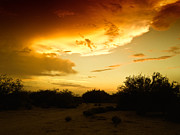 Stormy Photos - Fierce Sunset Storm by JaqStone