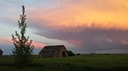 Anne Peters - Fiery Sky and Old Barn