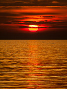 Davorin Mance Metal Prints - Fiery sunset Metal Print by Davorin Mance