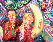 Amusement Parks Paintings - Fiest Couple by Arthur  Robins