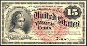 Fifteen Cents 4th Issue U.s. Fractional Currency Print by Lanjee Chee