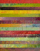Vivid Colour Digital Art - Fifteen Stripes No. 1 by Michelle Calkins