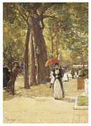 Washington Square Paintings - Fifth Avenue at Washington Square by Childe Hassam