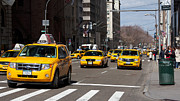 5th Ave. Prints - Fifth Avenue Cabs Print by Jannis Werner