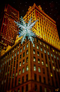 Christmas Star Posters - Fifth Avenue Holiday Star Poster by Chris Lord
