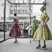 Dresses Prints - Fifties Fashion Print by Andrew Fare