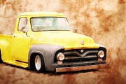 1956 Ford Truck Framed Prints - Fifties Ford Pickup Framed Print by Steve McKinzie