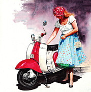 Peter Williams - Fifties Lambretta Girl