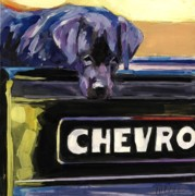 Chevrolet Painting Metal Prints - Fifty One Metal Print by Molly Poole