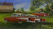 Rat Rod Painting Posters - Fifty Seven Acres Poster by Whitey Thompson