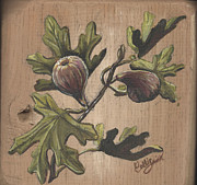 Figs Prints - Fig Plaque Print by Callie Smith