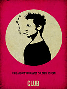 Movie Posters Metal Prints - Fight Club Poster Metal Print by Irina  March