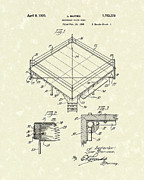 Fighter Drawings - Fight Ring 1930 Patent Art by Prior Art Design