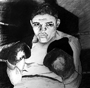 Boxer Drawings - Fighter by Jonathan Larson