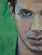 Boxer Paintings - Fighter by Michael Creese