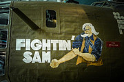 Greatest Generation Photo Prints - Fightin Sam Nose Art Print by Bob and Nancy Kendrick