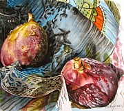 Figs Painting Prints - Figs and Lace Print by Kimberly Meuse
