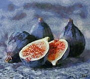 Figs Prints - Figs Print by Dragica  Micki Fortuna