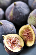 Sliced Photo Prints - Figs Print by Elena Elisseeva