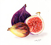 Kitchen Photos Posters - Figs Poster by Linda Ginn