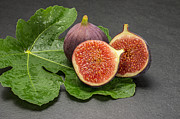 Cut In Half Photos - Figs on a slate plate by Palatia Photo