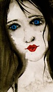 Folk Print Digital Art Posters - Figurative Art Painting Portrait Fine Art Print Poster by Laura  Carter