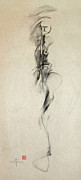 Beauty Mark Drawings Prints - Figurative Gesture Drawing Print by John Arthur Ligda