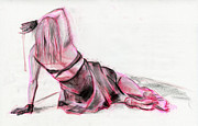 Figure Drawing Pastels Prints - Figure 258 Print by Jason Axtell