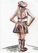 Figure Drawing Pastels Prints - Figure 263 Print by Jason Axtell