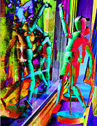 Figure Dancers Print by M and L Creations