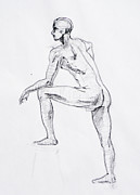 Naked Drawings Posters - Figure Drawing Study II Poster by Irina Sztukowski