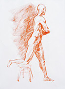 Naked Drawings Posters - Figure Drawing Study III Poster by Irina Sztukowski