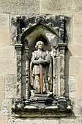 Figure Of St Wystan Above Porch Door Print by Rod Johnson